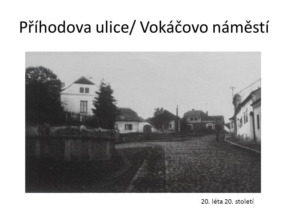 Příhodova ulice/ Vokáčovo náměstí 20. léta 20. století