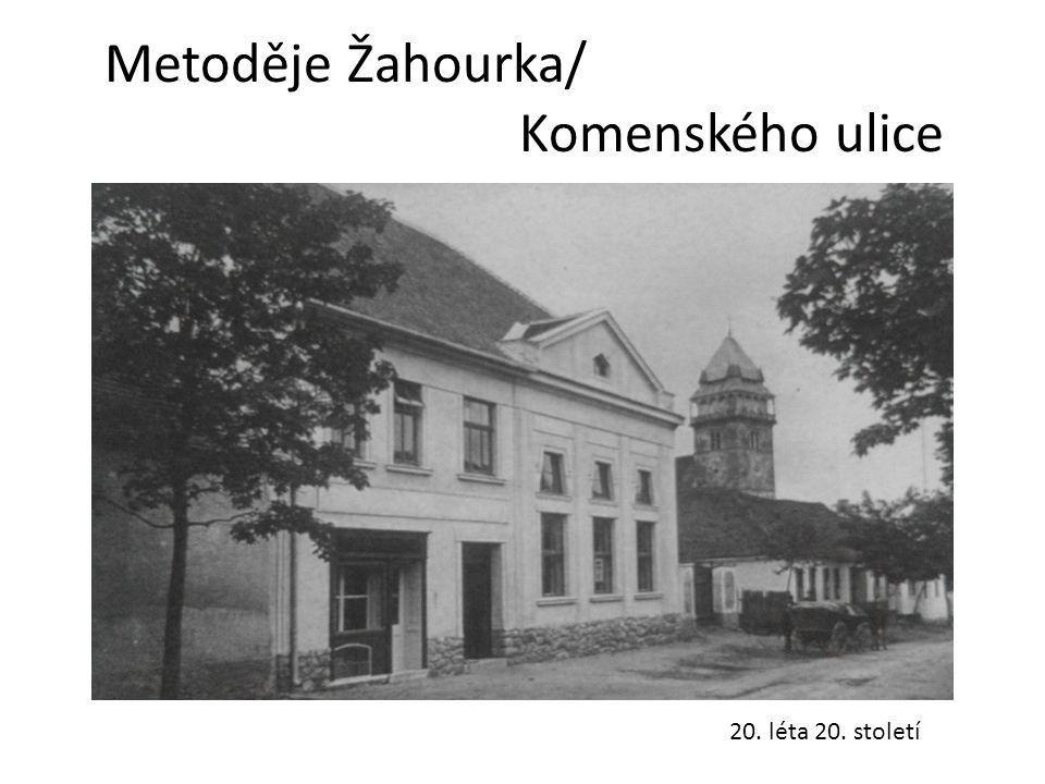 Metoděje Žahourka/ Komenského ulice 20. léta 20. století