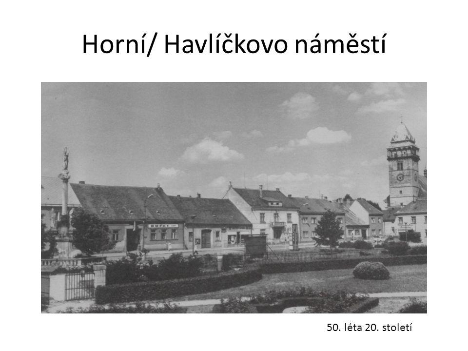 Horní/ Havlíčkovo náměstí 50. léta 20. století