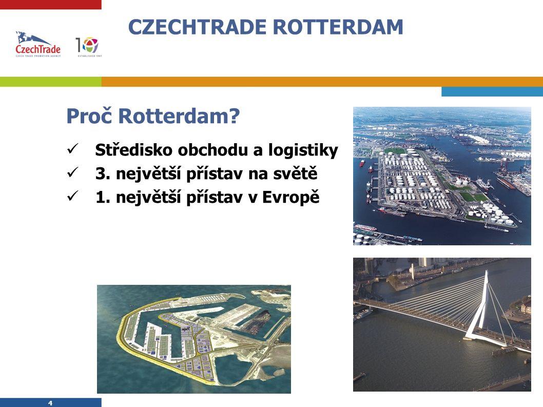 4 4 CZECHTRADE ROTTERDAM Proč Rotterdam. Středisko obchodu a logistiky 3.
