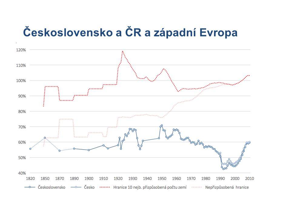 Míra nutného dovozu k vývozu jednotky a její vývoj mezi 1995 a 2005