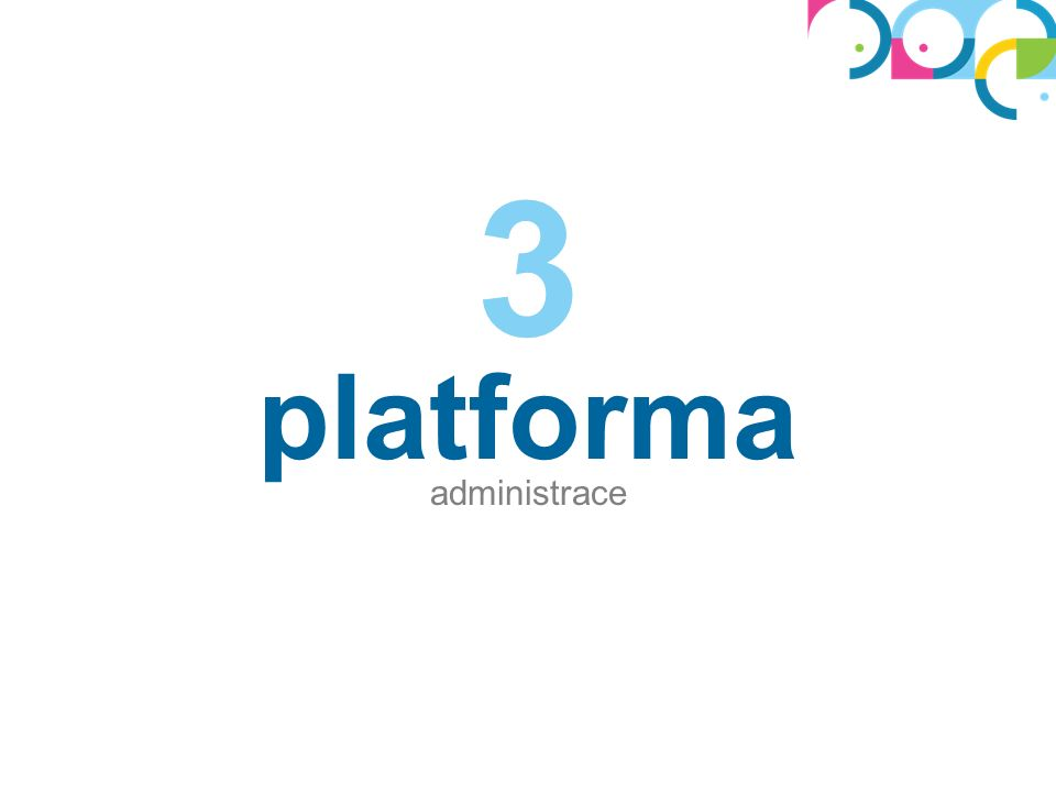 platforma administrace 3
