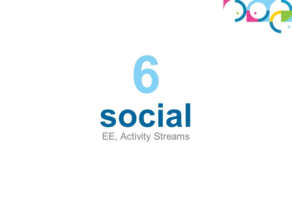 social EE, Activity Streams 6