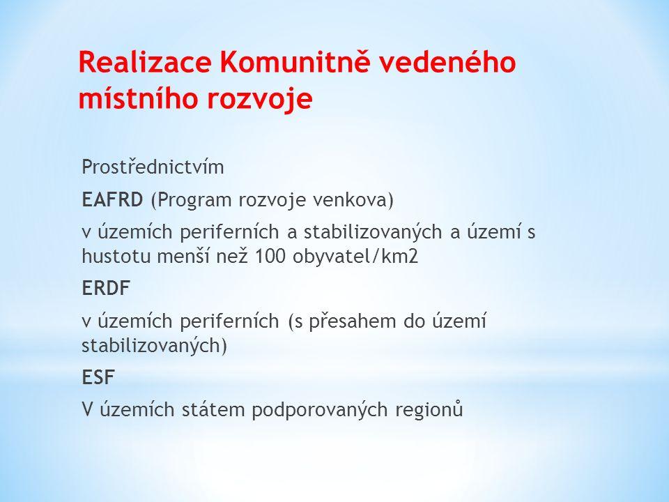 Realizace Komunitně vedeného místního rozvoje Prostřednictvím EAFRD (Program rozvoje venkova) v územích periferních a stabilizovaných a území s hustot