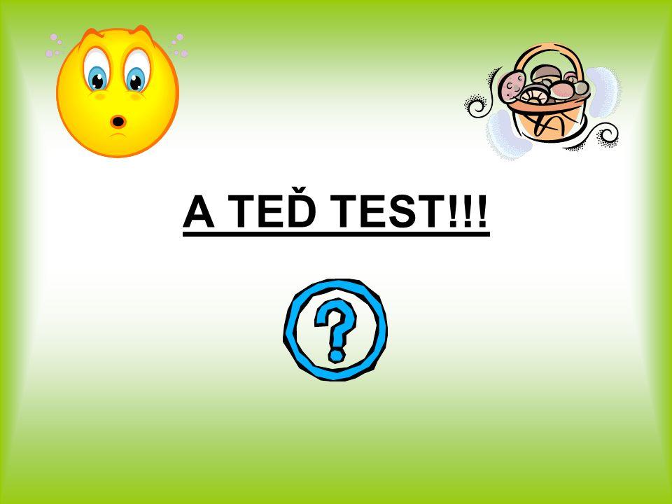 A TEĎ TEST!!!