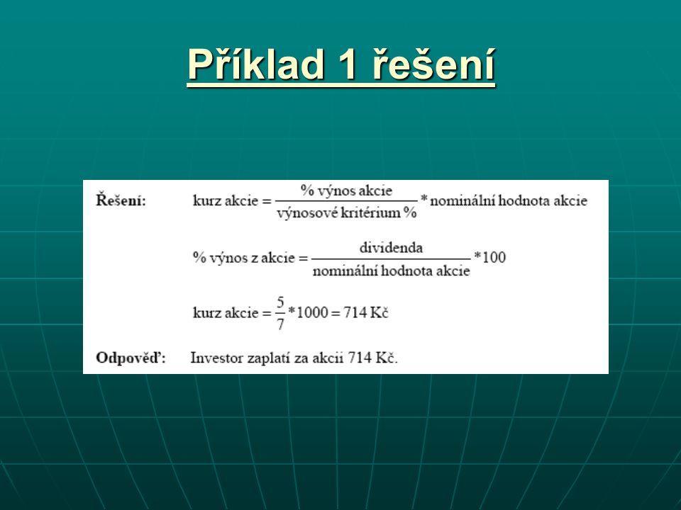 Příklad 1 řešení