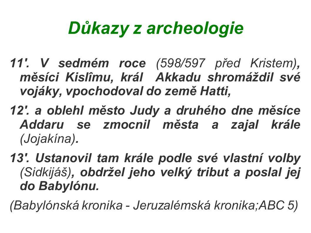 Důkazy z archeologie 11 .