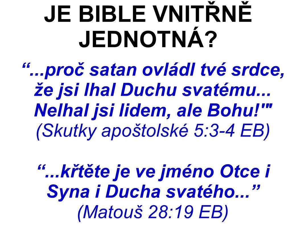 ...proč satan ovládl tvé srdce, že jsi lhal Duchu svatému...