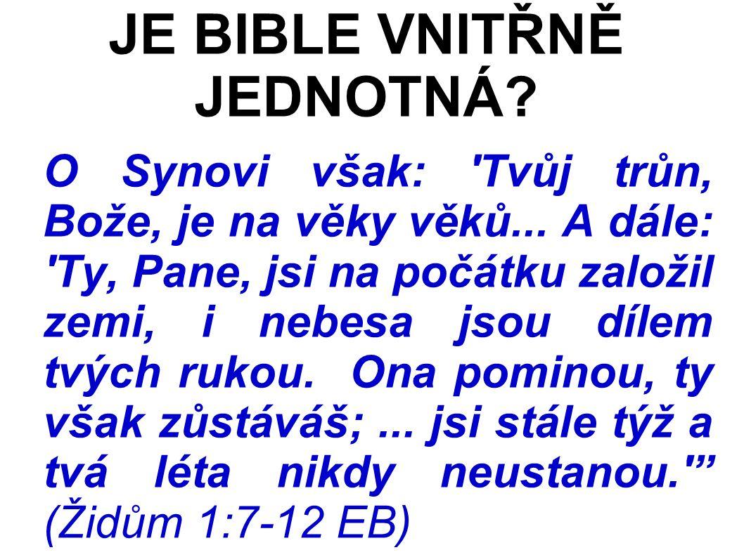 O Synovi však: Tvůj trůn, Bože, je na věky věků...