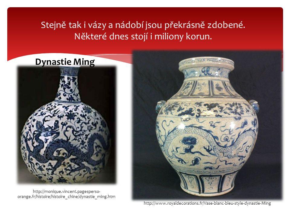 Stejně tak i vázy a nádobí jsou překrásně zdobené. Některé dnes stojí i miliony korun. http://monique.vincent.pagesperso- orange.fr/histoire/histoire_