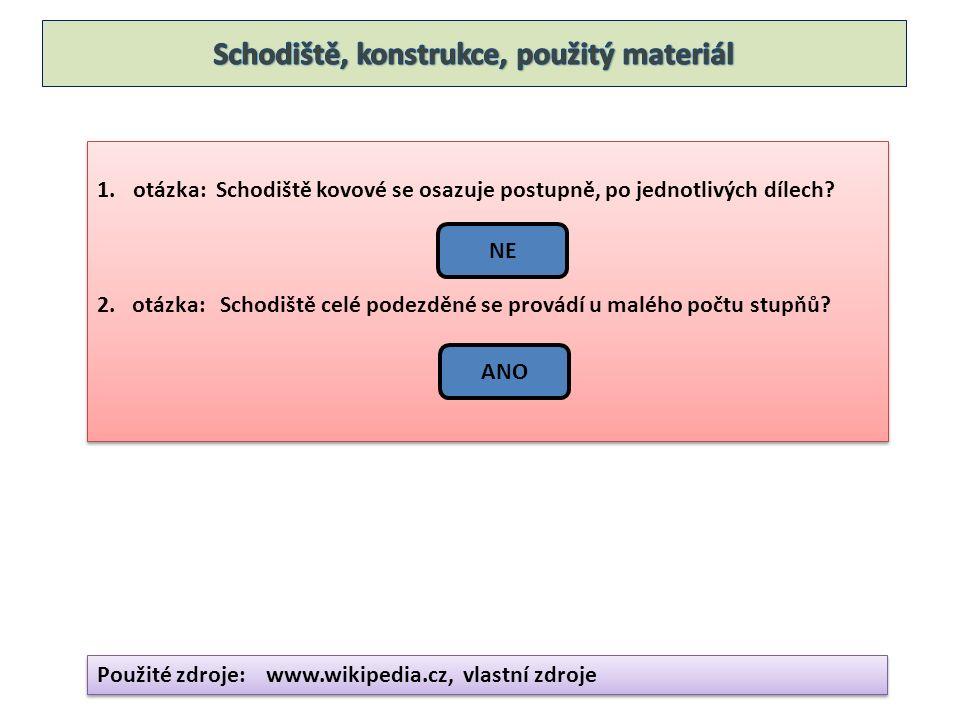 1.otázka: Schodiště kovové se osazuje postupně, po jednotlivých dílech.