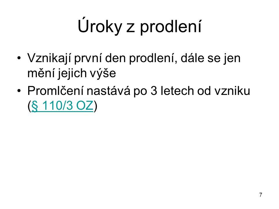 18 Použité předpisy OZ: Zákon č.