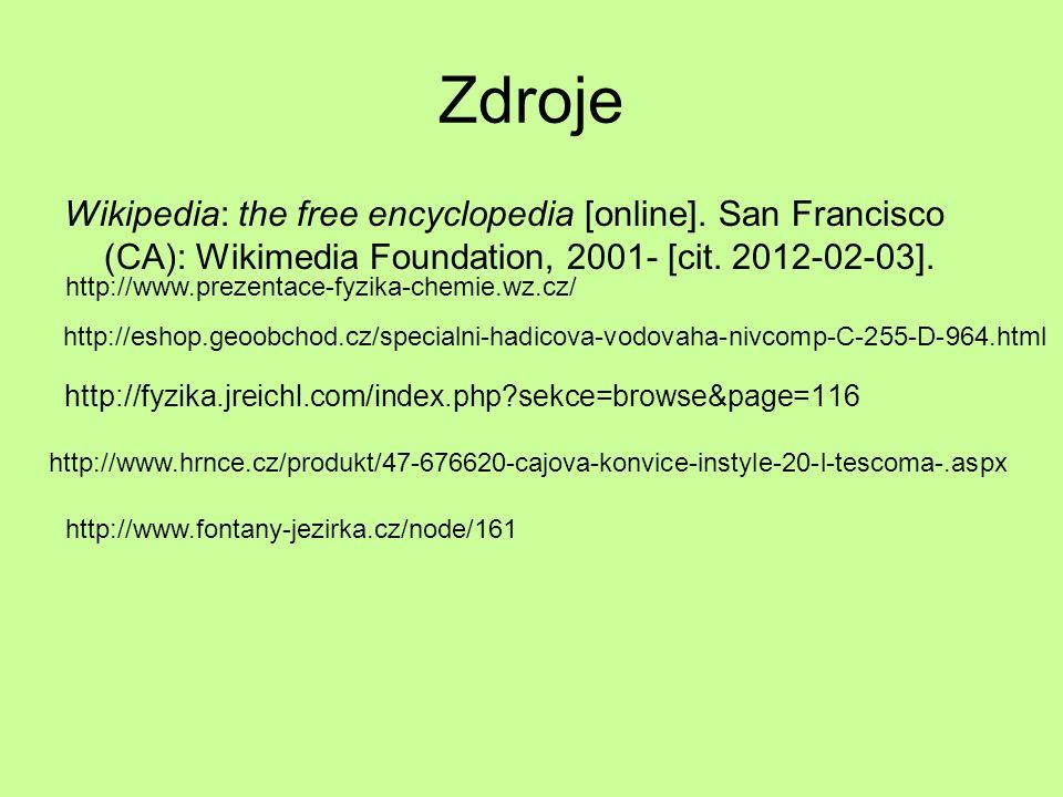Zdroje Wikipedia: the free encyclopedia [online].