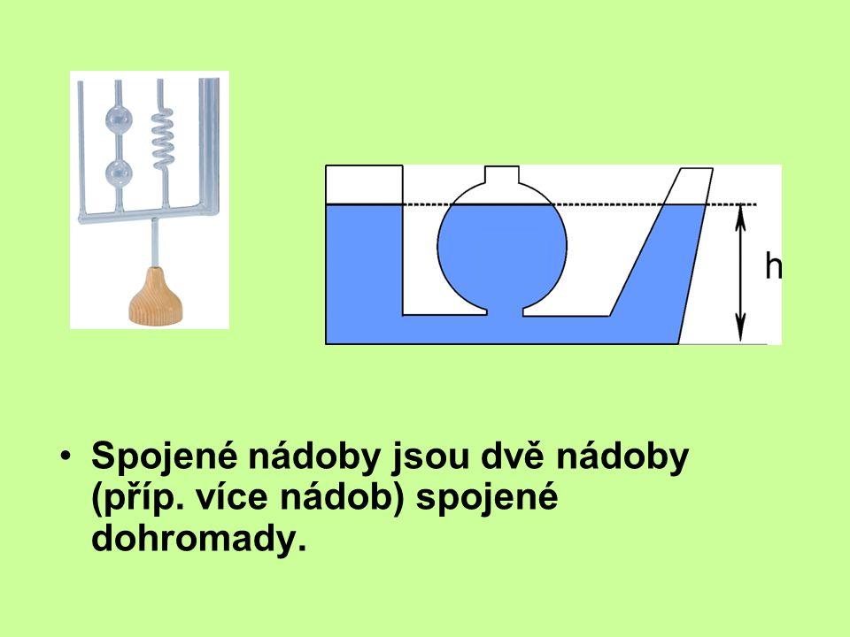 Spojené nádoby jsou dvě nádoby (příp. více nádob) spojené dohromady.