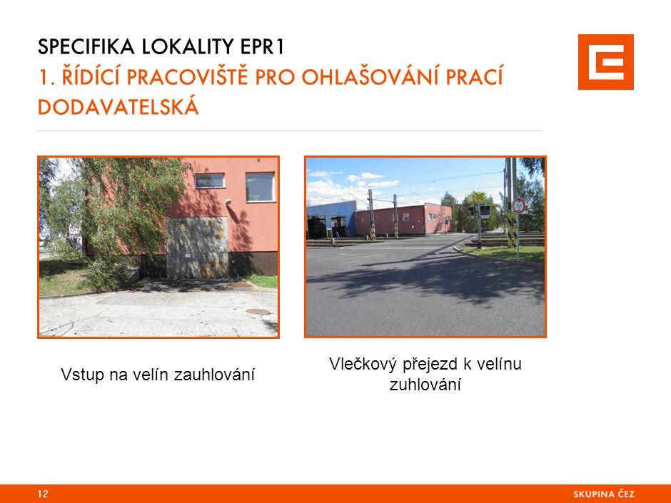 SPECIFIKA LOKALITY EPR1 1.