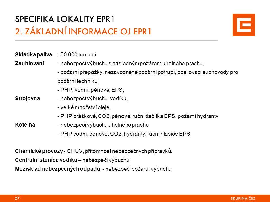 SPECIFIKA LOKALITY EPR1 2.