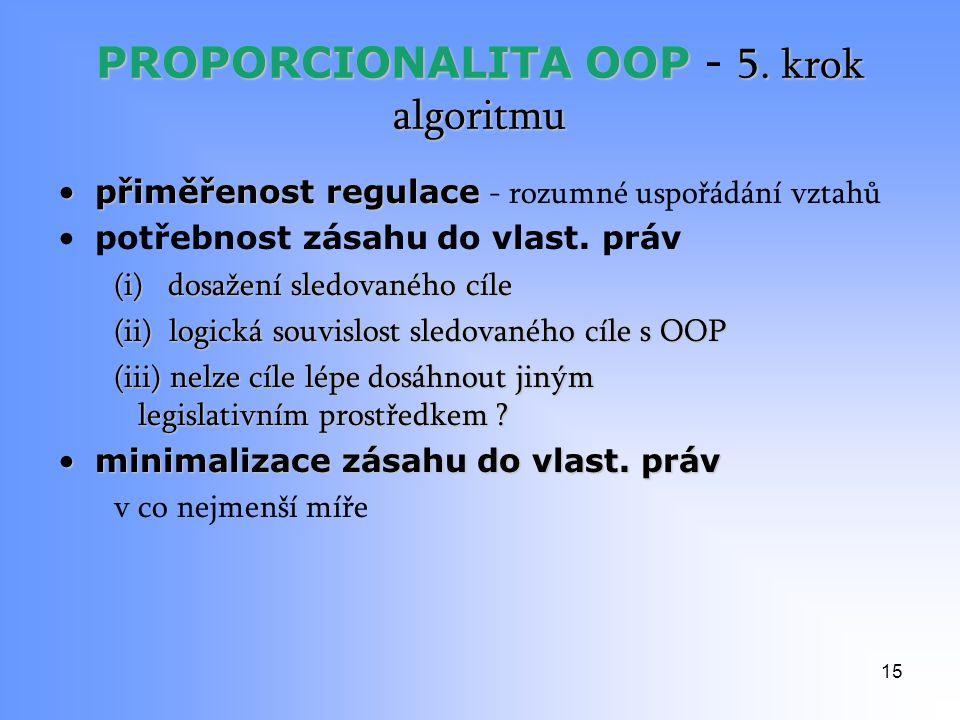 PROPORCIONALITA OOP 5. krok algoritmu PROPORCIONALITA OOP - 5.