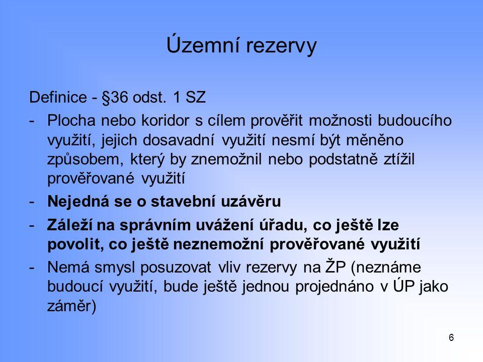 Územní rezervy Definice - §36 odst.