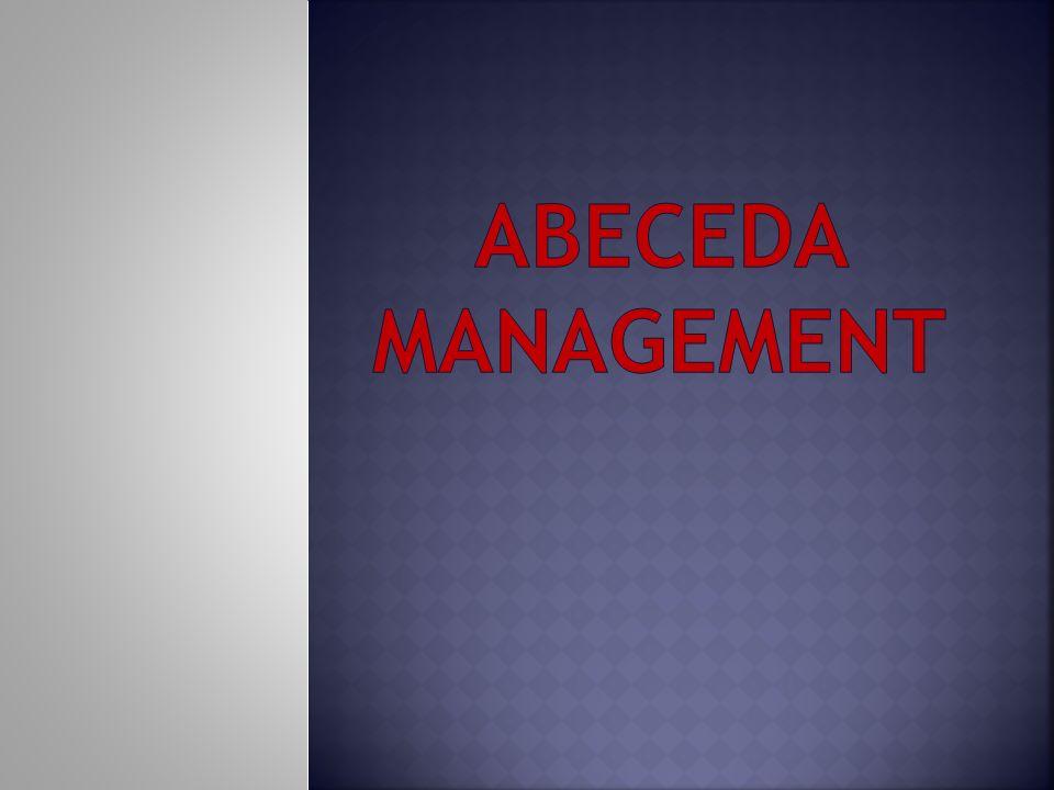 Management Řízení, je to umění dosáhnout toho, aby lidé udělali to, co je třeba k dosažení cílů organizace Manažer Vedoucí pracovník zodpovědný za chod organizace