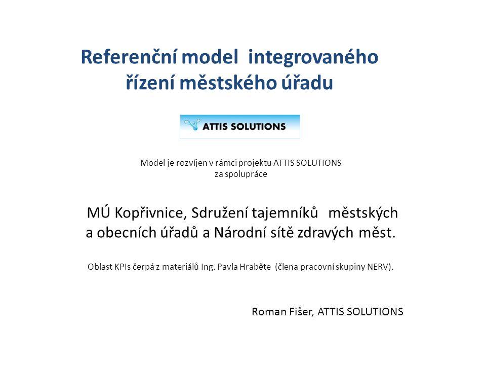 Referenční model integrovaného řízení městského úřadu Roman Fišer, ATTIS SOLUTIONS Model je rozvíjen v rámci projektu ATTIS SOLUTIONS za spolupráce MÚ