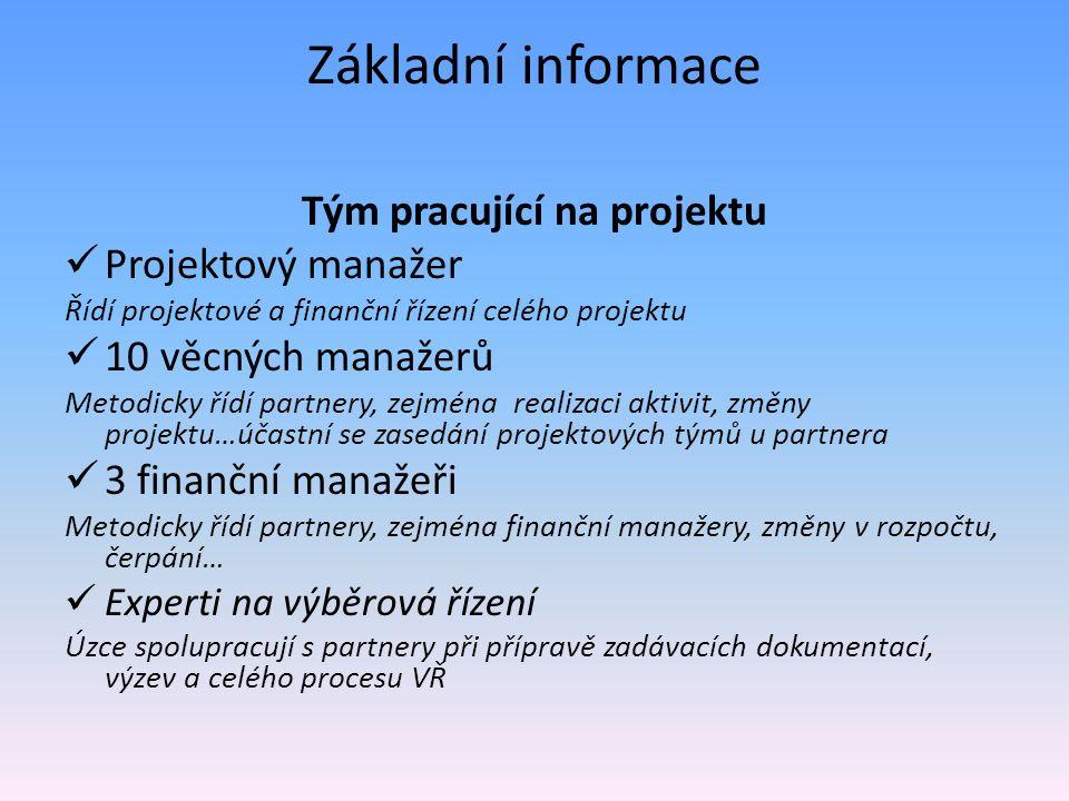Změny v projektových záměrech a v rozpočtu Žádost vč.