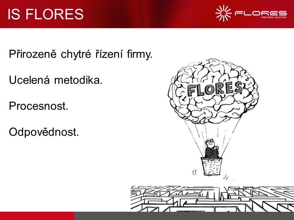 IS FLORES Přirozeně chytré řízení firmy. Ucelená metodika. Procesnost. Odpovědnost.