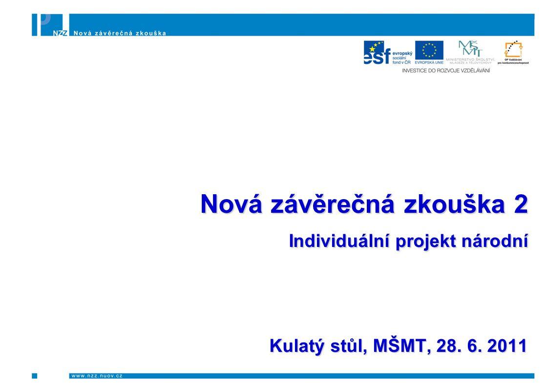Nová závěrečná zkouška 2 Individuální projekt národní Kulatý stůl, MŠMT, 28. 6. 2011