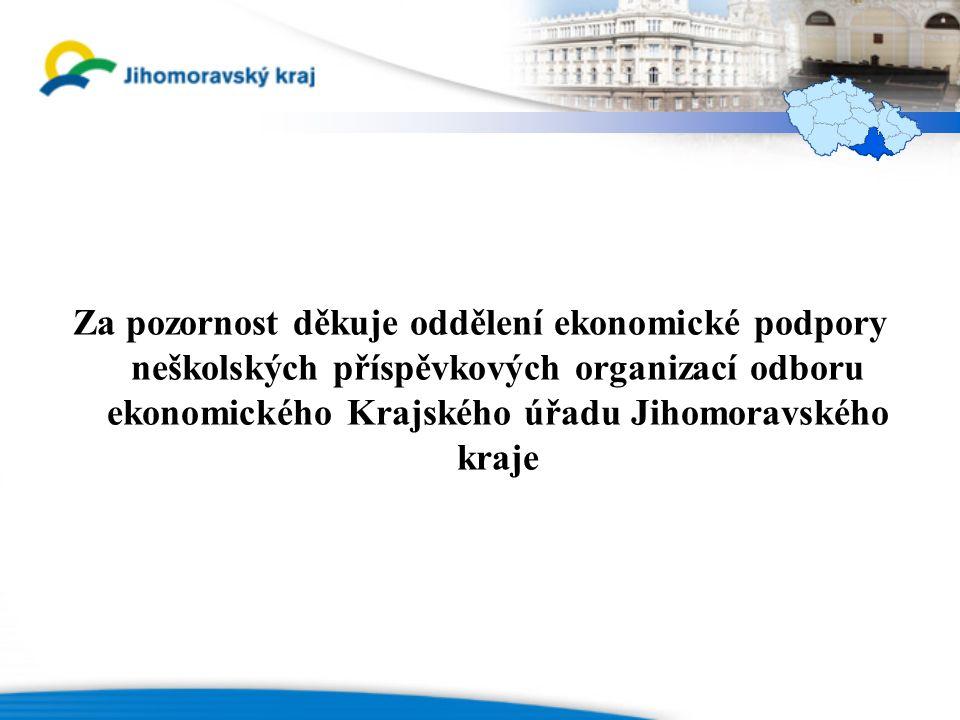Za pozornost děkuje oddělení ekonomické podpory neškolských příspěvkových organizací odboru ekonomického Krajského úřadu Jihomoravského kraje