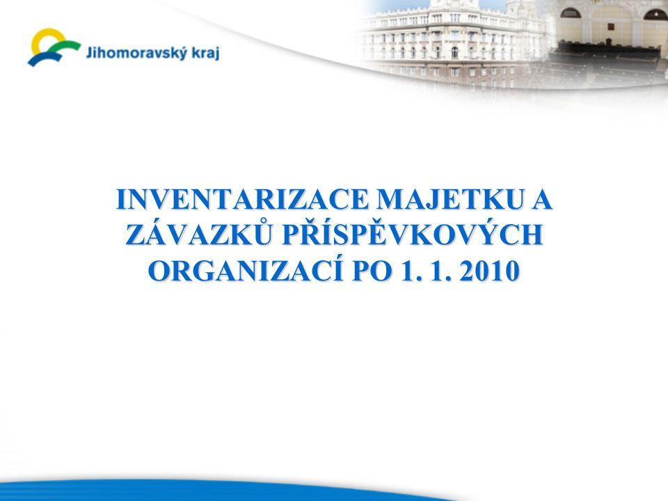 INVENTARIZACE MAJETKU A ZÁVAZKŮ PŘÍSPĚVKOVÝCH ORGANIZACÍ PO 1. 1. 2010
