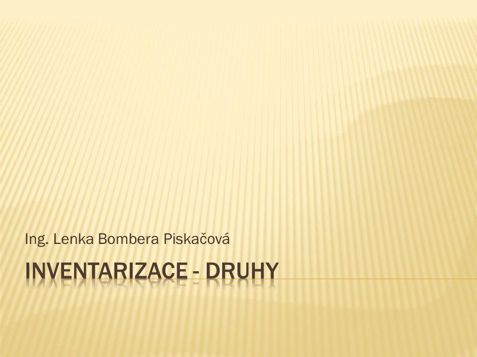 Číslo projektu CZ.1.07/1.5.00/34.0124 Název projektu DUM Škola budoucnosti s využitím IT VY_12_INOVACE_OV40 Název školy SPŠ a SOŠGS Most Předmět Odborný výcvik Tematická oblast Provoz obchodu Téma Inventarizace - druhy Ročník 2.