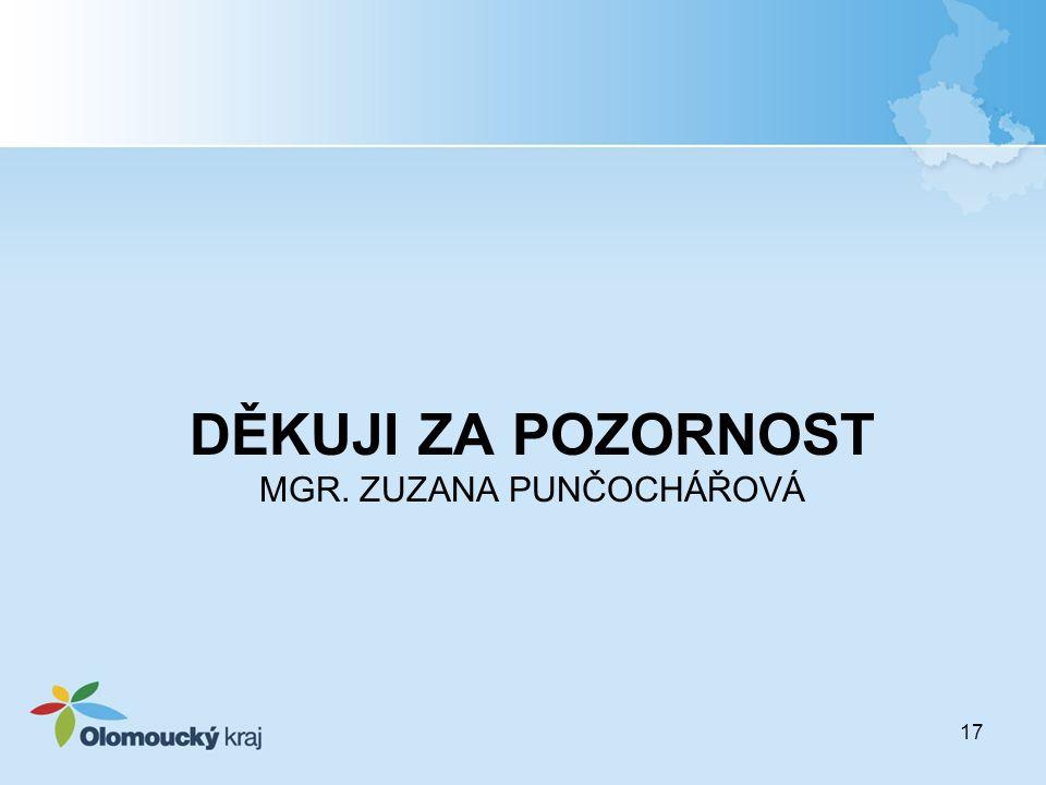 DĚKUJI ZA POZORNOST MGR. ZUZANA PUNČOCHÁŘOVÁ 17
