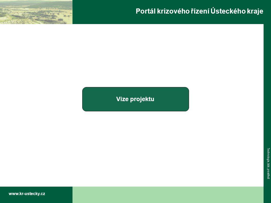www.kr-ustecky.cz Technologie, lidé, prostředí Portál krizového řízení Ústeckého kraje Vize projektu