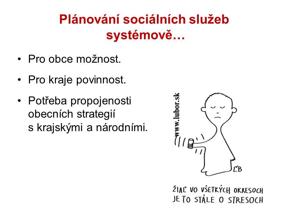 Plánování sociálních služeb systémově… Pro obce možnost.
