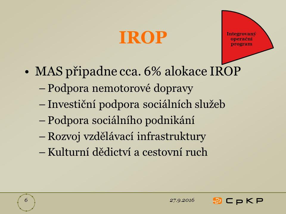 IROP MAS připadne cca.