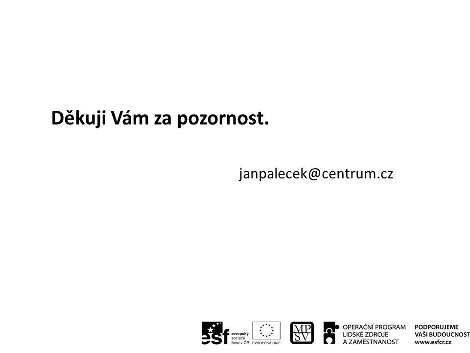 Děkuji Vám za pozornost. janpalecek@centrum.cz