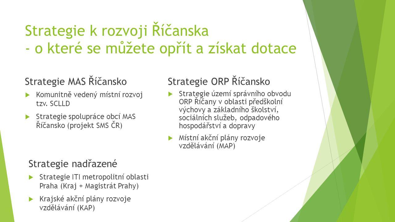Strategie k rozvoji Říčanska - o které se můžete opřít a získat dotace Strategie MAS Říčansko  Komunitně vedený místní rozvoj tzv.