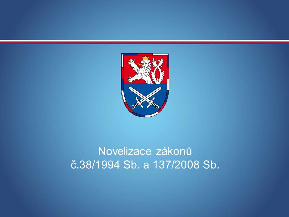MINISTERSTVO OBRANY ČR Novelizace zákonů č.38/1994 Sb. a 137/2008 Sb.
