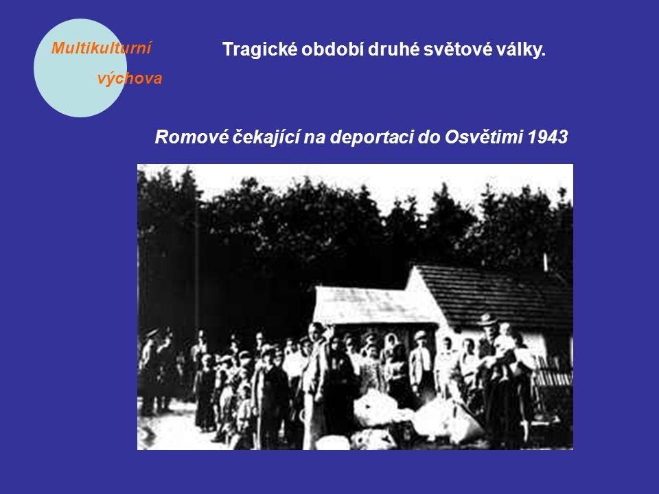 Multikulturní výchova Tragické období druhé světové války. Romové čekající na deportaci do Osvětimi 1943