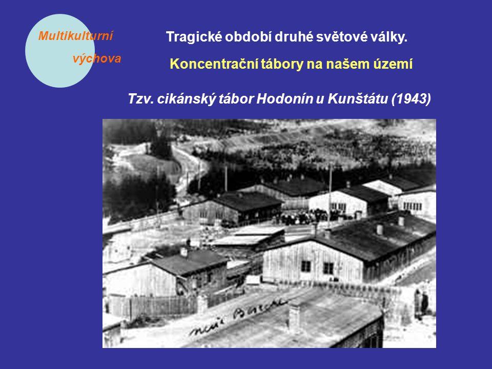 Multikulturní výchova Tragické období druhé světové války. Koncentrační tábory na našem území Tzv. cikánský tábor Hodonín u Kunštátu (1943)