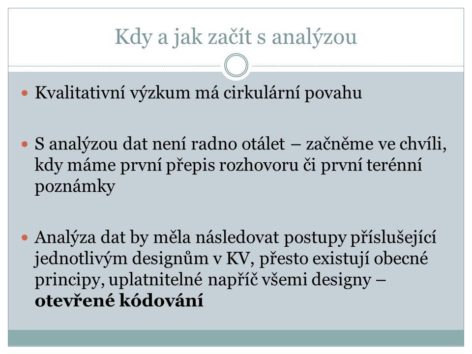 Další analytické strategie (zejm.