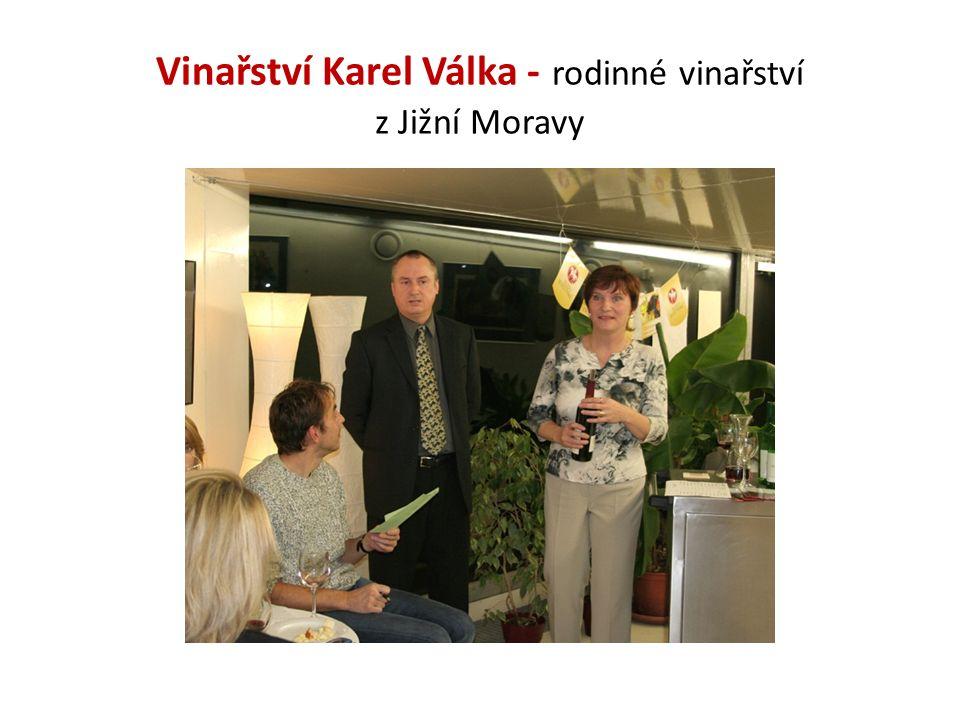 Historie Vinařství Karel Válka Nacházíte se v malém vinařství rodinného typu Vinařství Karel Válka.