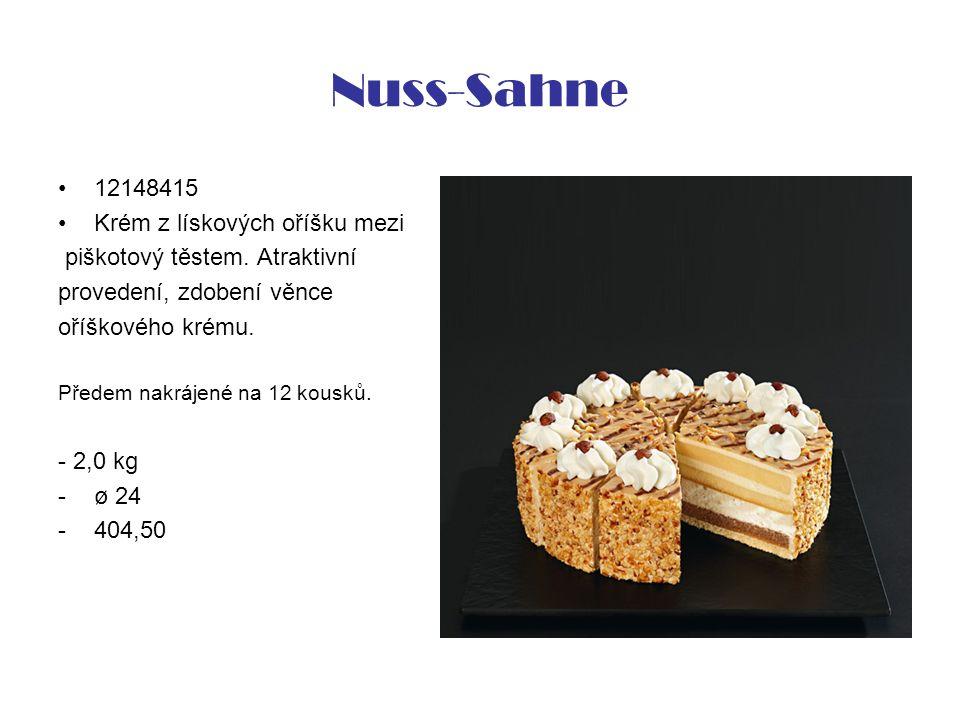 Nuss-Sahne 12148415 Krém z lískových oříšku mezi piškotový těstem.