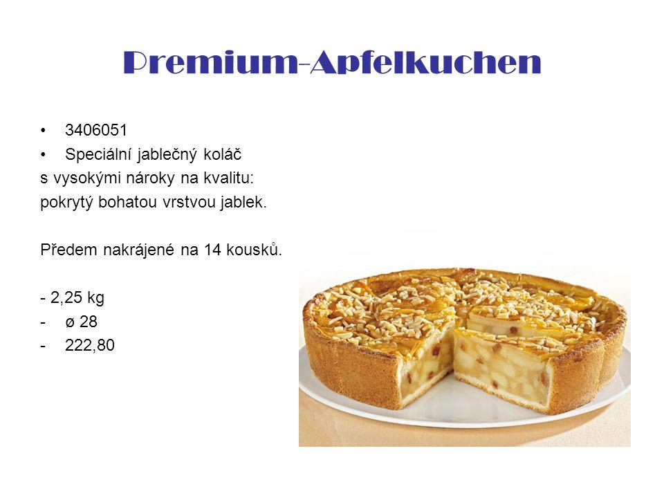 Premium-Apfelkuchen 3406051 Speciální jablečný koláč s vysokými nároky na kvalitu: pokrytý bohatou vrstvou jablek. Předem nakrájené na 14 kousků. - 2,
