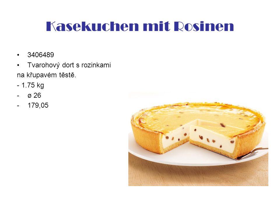 Kasekuchen mit Rosinen 3406489 Tvarohový dort s rozinkami na křupavém těstě. - 1.75 kg -ø 26 -179,05