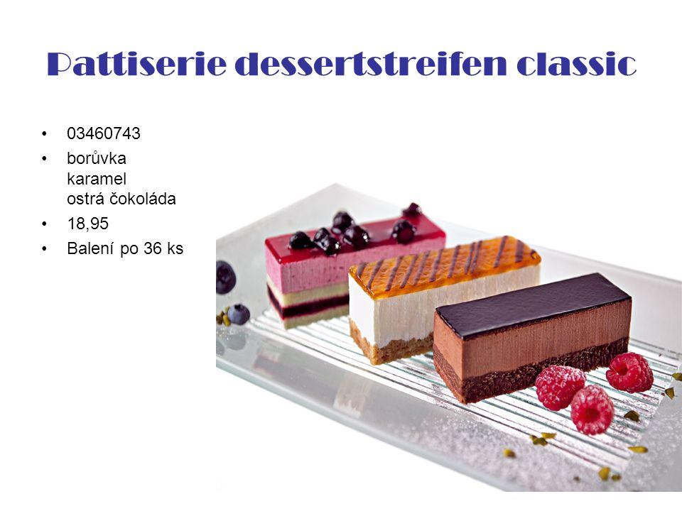 Pattiserie dessertstreifen classic 03460743 borůvka karamel ostrá čokoláda 18,95 Balení po 36 ks
