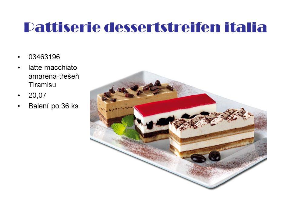 Pattiserie dessertstreifen italia 03463196 latte macchiato amarena-třešeň Tiramisu 20,07 Balení po 36 ks
