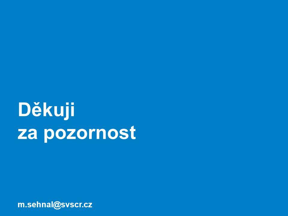 Děkuji za pozornost m.sehnal@svscr.cz