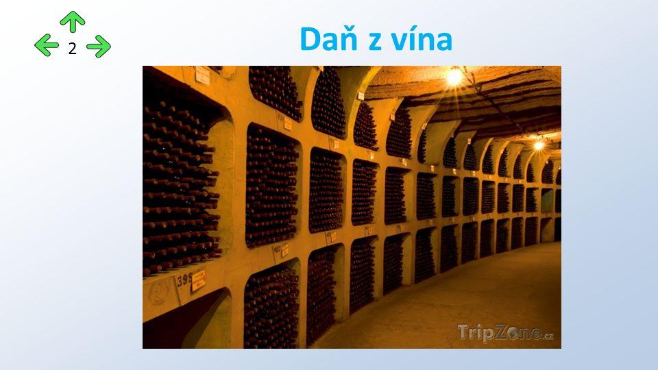Právnické i fyzické osoby, které v tuzemsku vyrábějí nebo do tuzemska dovážejí víno a jimž vznikla povinnost daň přiznat a zaplatit Tzn.