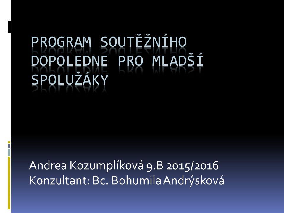 Andrea Kozumplíková 9.B 2015/2016 Konzultant: Bc. Bohumila Andrýsková