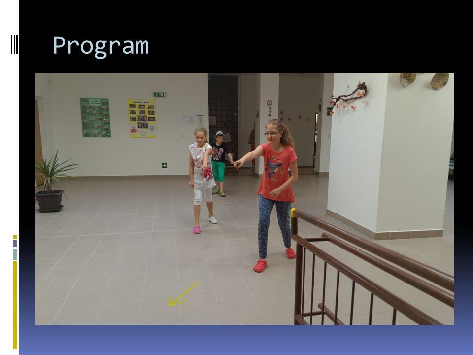 Program  Časové rozmezí od 8:00 do cca. 11:30  Orientace pomocí šipek  Okruh stanovišť